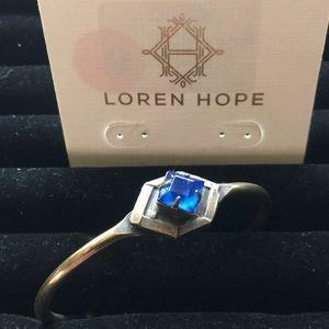 Loren Hope Hex Bracelet with Cobalt Stone